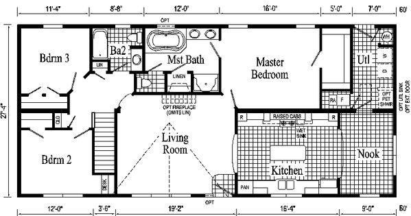 Open Ranch Style Floor Plans Hanover Ranch Style Modular