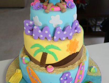 I Think Putting A Dora On Top This Cake And Making It A Dora Beach