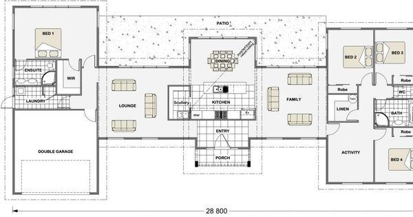 Millbrook 256 Lifestyle Series North Facing House House Plans Cabin Floor Plans