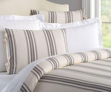 Evan Stripe Duvet Cover Shams Country Bedding Sets Bed Linens Luxury Striped Duvet