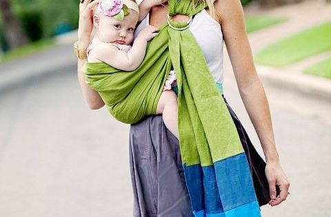 DIY sling - two rings, long strip of fabric...this is great b/c