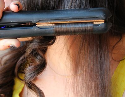 """How to curl hair with a flat iron"" ...isn't this... just... curling"