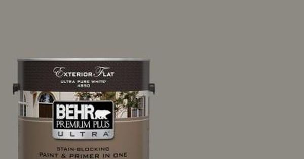 Behr Ultra 1 Gal Bxc 55 Concrete Sidewalk Flat Exterior Paint And Primer In One 485301 The Home Depot Behr Premium Plus Ultra Exterior Paint Behr Ultra
