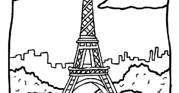 eiffel tower coloring page free coloring pages pinterest tower homeschool and school. Black Bedroom Furniture Sets. Home Design Ideas