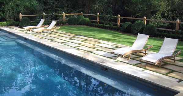 Richard Anderson Landscape Architect Portfolio Like Ledge All The Way Around Pool Pavers