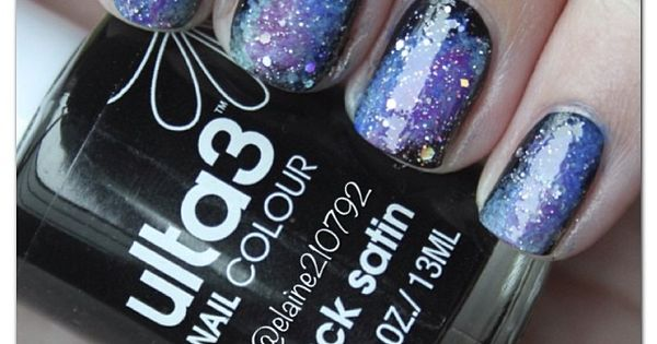Galaxy Nails Tutorial Video @kloweryrobinson