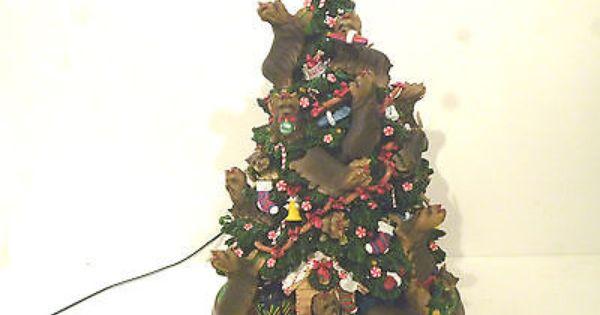 Danbury Mint Yorkshire Terrier Dogs Yorkie Christmas Tree Ceramic Ornament Yorkshire Terrier Dog Christmas Puppy Christmas Dog