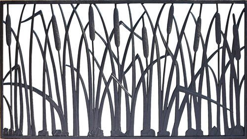 180 68 W X 29 H Cattail Cast Iron Railing Panel With Images