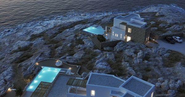 Villas in Mykonos, 2012. One day I will see Mykonos.