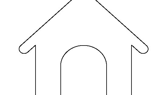 Dog House Pattern. Use The Printable Outline For Crafts