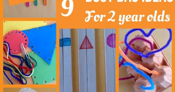 No Mess Busy Bag Ideas for 2 Year Olds Great for occupying