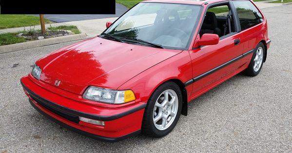Extremely Well Preserved 1991 Honda Civic Si Honda Civic Honda Civic Hatchback Honda Civic Si