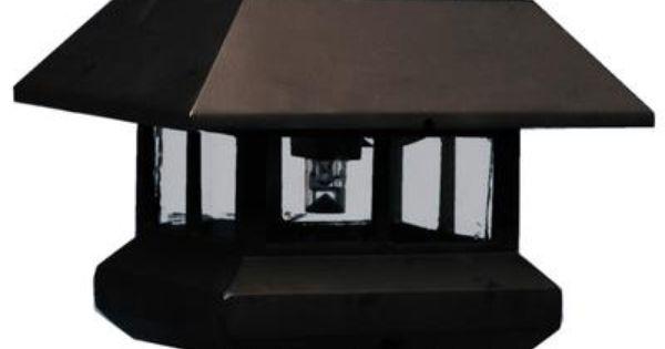 Residential Solar Light Post: Solar Light Post Cap