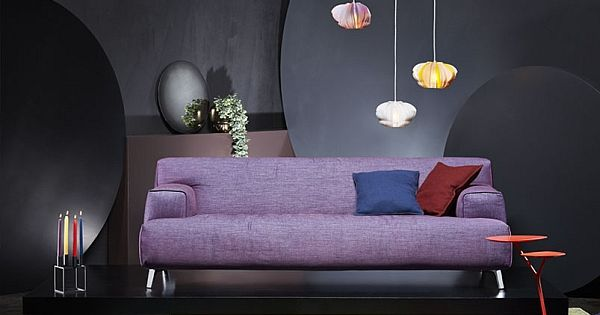 Comfy Oscar Sofa in plush purple Kuscheln und Sitzen - das sofa oscar perfekte erganzung wohnumgebung