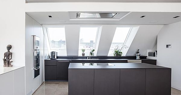 edle k che im dachgeschoss in m nchen k che pinterest dachgeschosse edel und m nchen. Black Bedroom Furniture Sets. Home Design Ideas