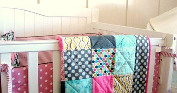 Cute baby room idea....plus a cute easy quilt tutorial