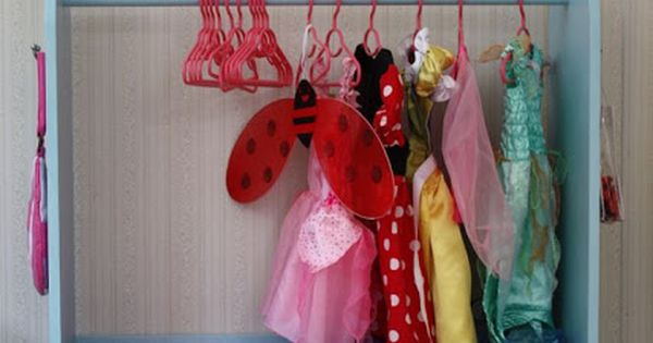 Playroom idea for dress up clothes
