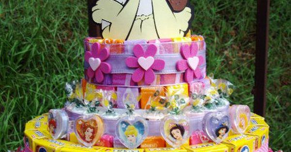 its like a diaper cake but with kid stuff! Cute girl's birthday