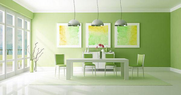 Dise o de interiores dise o de interiores 2014 - Habitaciones de color verde ...