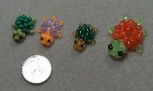 3d beaded turtle ring tutorial bead bugs animals etc