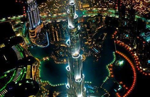 Tallest building in the world, from a helicopter, at night | Funny