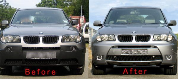 Silver Grey Body Kit Fitted Before And After Xoutpost Com