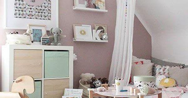 20 inspiring ideas for children 39 s bedrooms with sloped ceilings kinderkamer slaapkamer en - Kamer bebe pastel ...