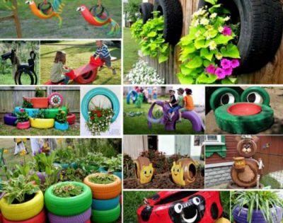 Juegos eran los de antes juegos con neum ticos reciclados for Decoracion de jardin con neumaticos