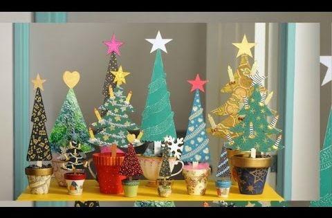 Pintar arbolitos de navidad en madera ideas navide as - Arboles de navidad manualidades navidenas ...