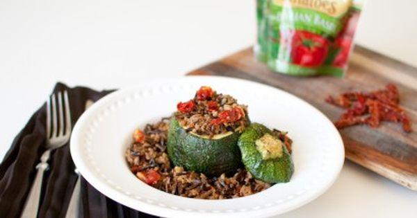 Stuffed Round Zucchini Recipe Turkey Recipes Food Zucchini