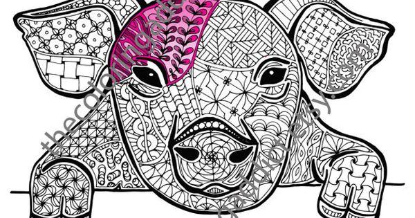 pig coloring sheet animal coloring pdf by