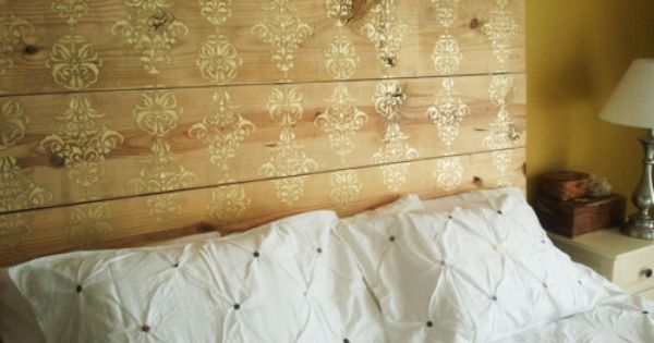 BEDROOM, The Function Of Modern Headboards: Rustic Headboards Ideas With Yellow Walls