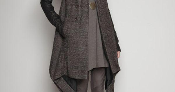 ❤️ orlique coat - rick owens style fashion clothing
