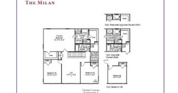 Ryan Homes Milan Interactive Floor Plan: Ryan Homes The Milan Second Floor