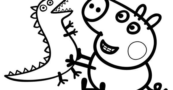 pigs in pajamas coloring pages   peppa pig coloring pages printable   peppa pig george ...