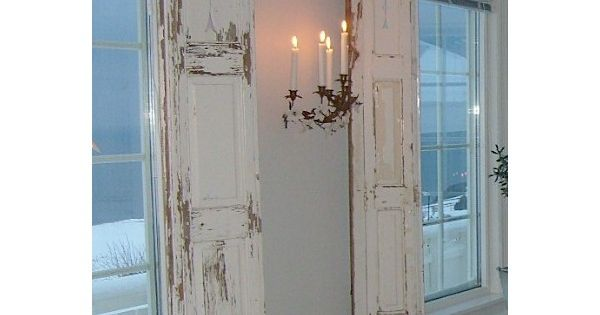 white on white on the ocean Distressed shutters Shabby chic