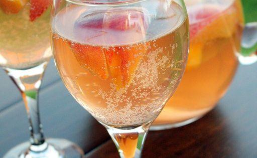 Sparkling White Peach Sangria | Recipe | Sangria ...