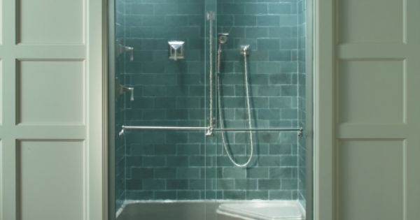 tile bathroom showers this semi custom shower enclosure showcases kohler s 14676