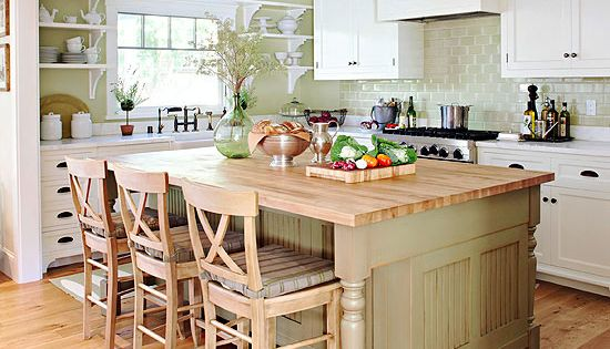 Kitchen cabinet color choices green subway tile subway for Colour choice for kitchen