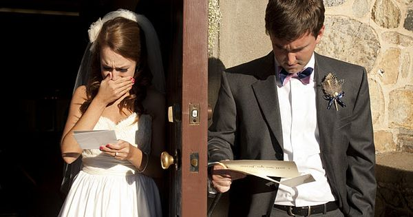 """Moments before the ceremony, Matt and I gave each other handwritten letters"