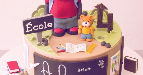 G teau tchoupi l 39 ecole un jeu d 39 enfant cake design - Tchoupi a l ecole ...
