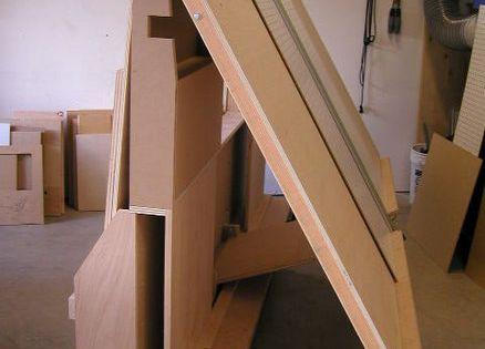 Neat design for sheet goods cart especially like the for Sheet goods cart