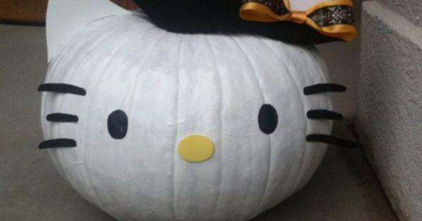 #HelloKitty witch pumpkin...I want to do a Hello Kitty Pumpkin for AlexaRaye