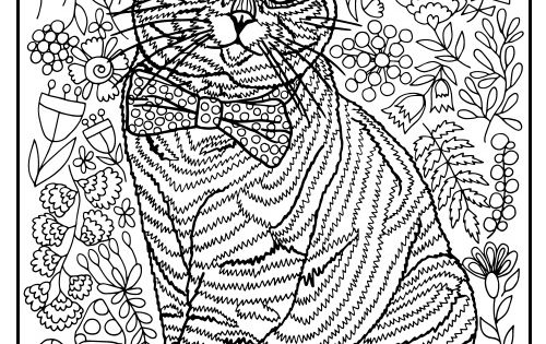domestic cat coloring pages - photo#34