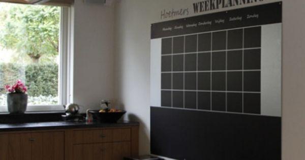 Magneetbord Weekplanner - Woonkamer : Pinterest - Planners