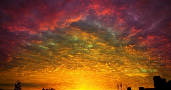 beautiful colorful sunset