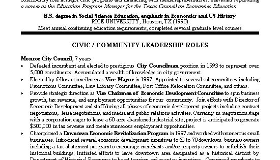 civic leader