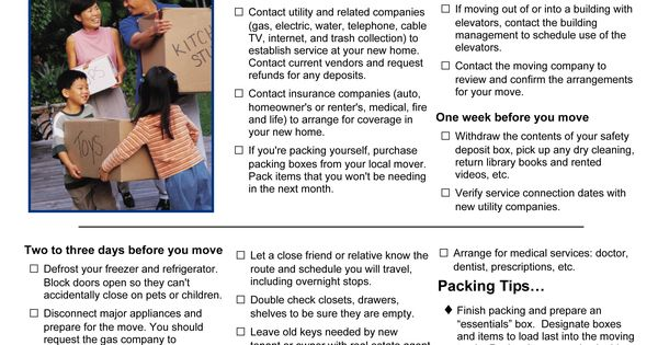 Moving into your new home this checklist will help make for Checklist for moving into a new house