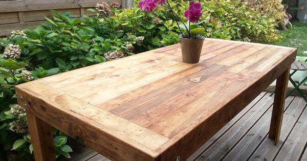 Table Manger En Bois De R Cup Ration De Palette Reclaimed Pallet Wood Dining Table