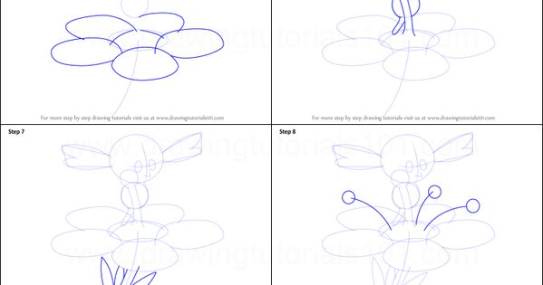 How To Draw Flabebe From Pokemon Printable Step By Step Drawing Sheet Drawingtutorials101 Com